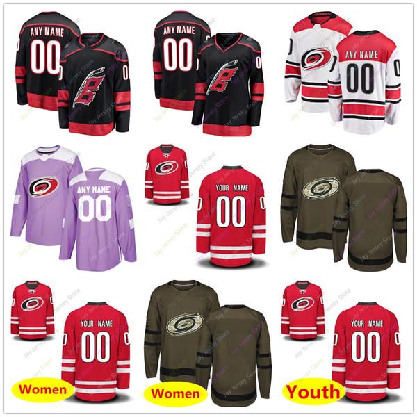 Custom Jersey 2019 Men Women Youth Kid Winter Classic Carolina Hurricanes Salute to Service
