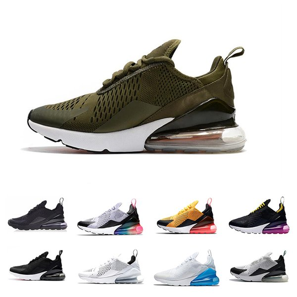 Medium Olive 270 mens Running Shoes Triple White Black Hot Punch Pink Barely Rose Tiger Brown270s Women Sports Sneakers us5.5-11
