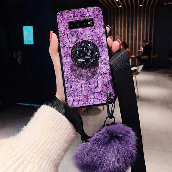 Neue Mode Stoßfest Handyhülle für Samsung S10 / S10 + / S10e Beliebte Bohrständer Kickstand Schutzhülle Rückseite Fall