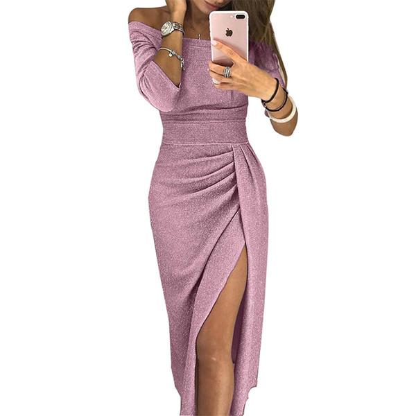 2019 Nouveau gros Sexy Lady élégante longue Robes de soirée Femmes robe de soirée
