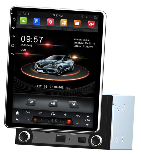 """Vertical Screen 2 din 9.7"""" Android 7.1 Universal Car dvd Multimedia Head Unit Radio GPS Bluetooth WIFI USB Rotatable Touch Screen 2GB+32GB"""