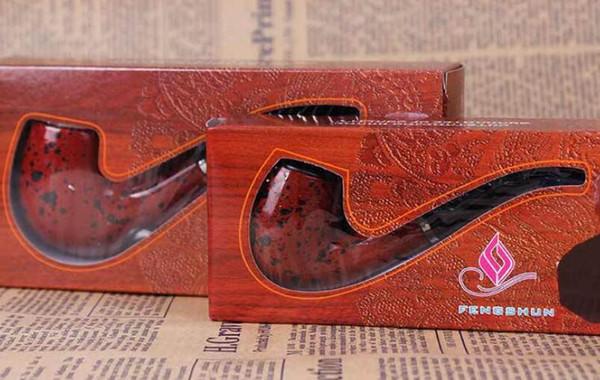 Dual-purpose bakelite resin pipe detachable filter curved mini-plugging pipe red men's hammer smoking