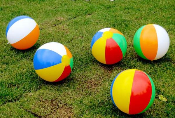 Beach Ball 6 Colour Striped Rainbow Beach Ball Outdoor Beach Ball Water Sports Balloon For Children