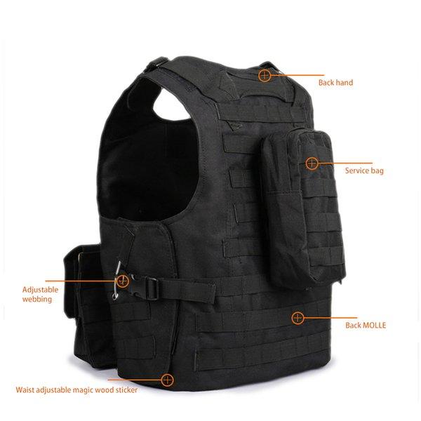 2019 children outdoor multi-function tactical vest men military combat vest camouflage vest thumbnail