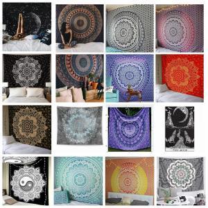 150 * 130 cm Mandala Tapiz India Colgante de Pared Decoración Bohemio Hippie Doble Colcha de cama Playa estera de yoga Mantón toalla AAA1756
