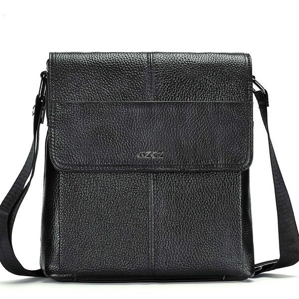 Echtes Leder männlich Baotou Schicht Rindsleder Mann einzelne Schulter Paket schräge Satchel Cross Body Geldbörsen Messenger Bag Logo Designer Handtaschen