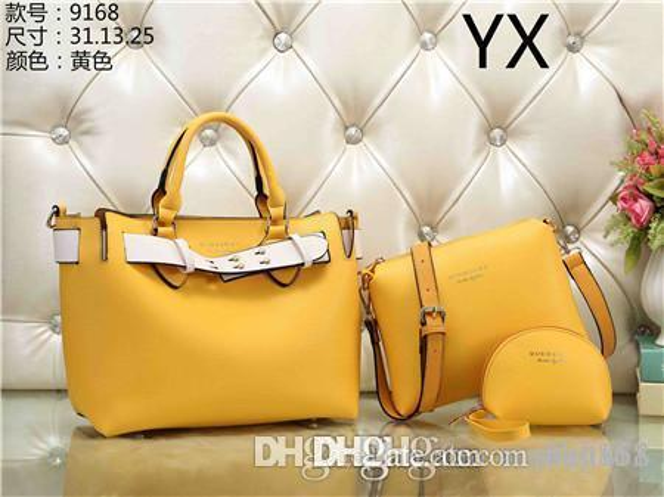 2019 styles Handbag Famous Name Fashion Leather Handbags Women Tote Shoulder Bags Lady Leather Handbags M Bags purse 9168
