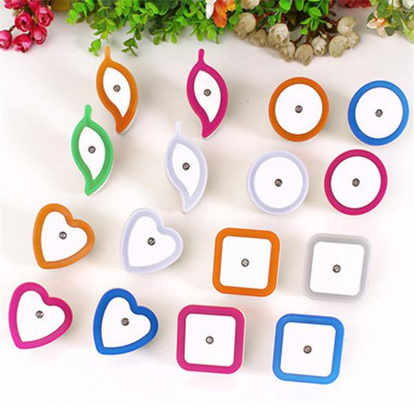 Creative Plastic Nightlight Heart Shape LED Light EU Plug Energy Conservation Night Lamp Many Styles zhao
