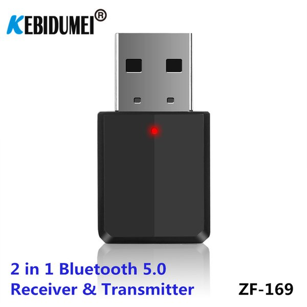 2 in 1 Bluetooth 5.0 Audio Receiver and Transmitter Wireless music Adapter USB power 3.5mm Jack for Bluetooth mouse TV Car Radio