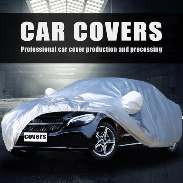 Plein Car Cover Auto Sedan Hatchback Sun Pluie Gel neige Protection poussière S / M / L / XL / XXL Anti UV Car Cover Accessoires tente