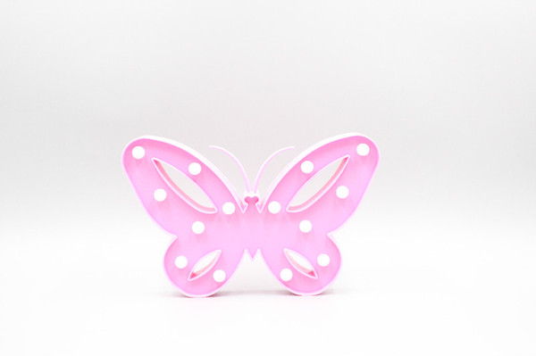 Night Pink LED Butterfly Night Light For Christmas/Valentine Holiday Decoration Home Bedside Cute Animal 3D Night Lamp