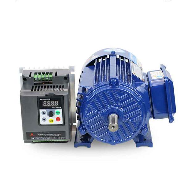 Motor Düşük hız motora Kademesiz devir motorlu mil düzenleyen 1,5 KW 3 fazlı 380VAC Frekans dönüştürücü VFD Hız