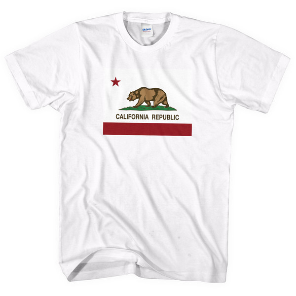 California Republic Flag T Shirt Top Men Women Kids Tee USA State Tshirt Gift UK Male Hip Hop funny Tee Shirts cheap wholesale