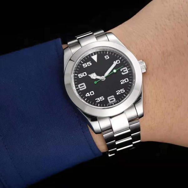 Heiße hochwertige Luxus Herren Mechanische Edelstahl Automatikwerk 116900 AIR KING Uhr Sport Selbstwind Uhren Armbanduhr Gutschein