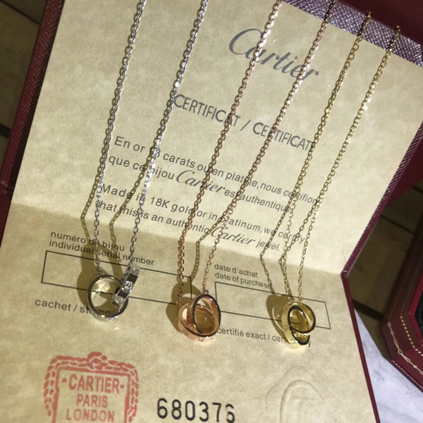 Двойное кольцо бриллиантовое ожерелье,ожерелье бренд класса люкс ожерелье бренд
