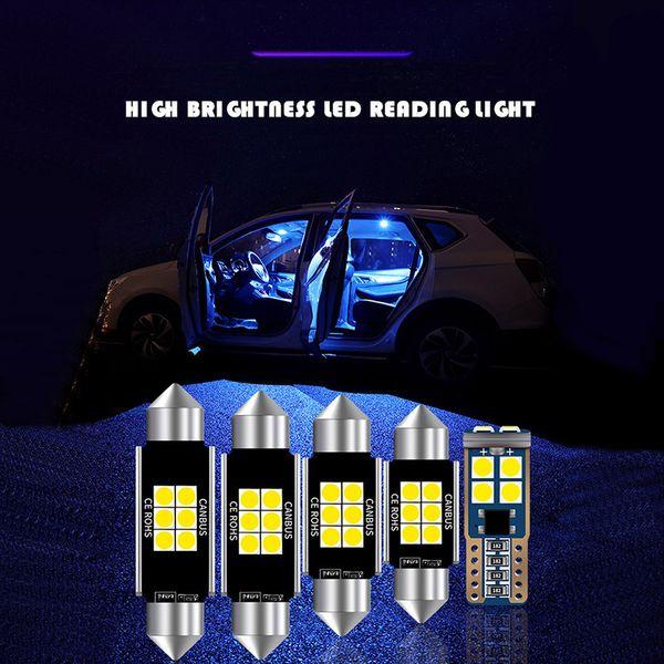 12pcs 31mm 36mm 39mm 41mm T10 Super brillante 6SMD Bombilla de adorno LED C5W Luz de techo del coche Canbus Sin error Lámpara de lectura interior automática