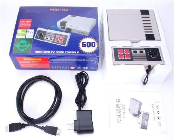 HDMI Mini Classic TV Game Consoles CoolBaby 600 Model video Game Player For 600 NES HD Games Console Birthday Xmas Christmas Gift DHLFREE