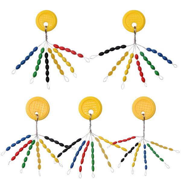 Herramientas 90 Unids / Bolsa Color Mezclado Espacio Frijoles Oval Stopper Fishing Bobber Float Stopper Conector Para Accesorios de Pesca
