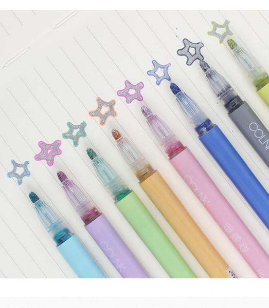 I più venduti della stella superiore Students' Possessions Multi-color contabile della penna di indicatore fluorescente di colore della caramella di moda Contorno Pen205