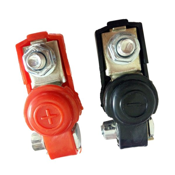 best selling 2x Adjustable Car Battery Terminal Connector Ends Clamp Positive & Negative