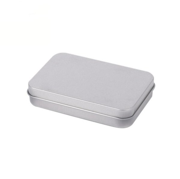 Rectangular Hinged Containers With Lid Metal Mini Empty Tin Box Wear Resistant Storage Organizer Hot Sale LX5191