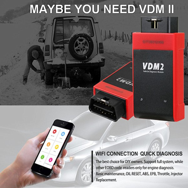 Newly UCANDAS VDM2 3.9 Wifi Full Systems Auto Diagnostic Scanner the VDMII 2 Same AS VDM Better Than EASYDIAG Update Free