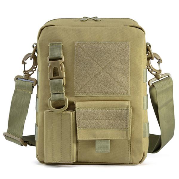 LJL-Men Waterproof Vertical Messenger Bag Shoulder Bag Outdoor Travel Commuter Package Extend Molle