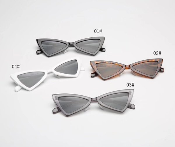 Women Cat Eye sunglasses for women sunglasses fashionable Triangle framed Glasses with Brown frame
