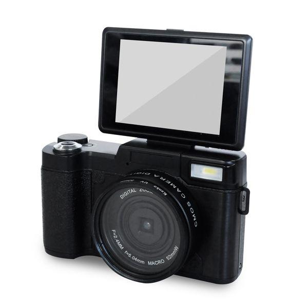 24MP HD Yarım DSLR Profesyonel Dijital Kameralar, 4x Telefoto, Balıkgözü Geniş Açı Lens Kamera Makro HD Kamera