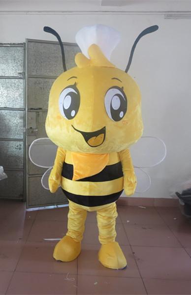 Neueste hochwertige bienen Maskottchen Kostüm Zeichen Kostüm Halloween Kinder Party Geschenk Kleid Urlaub spezielle kleidung