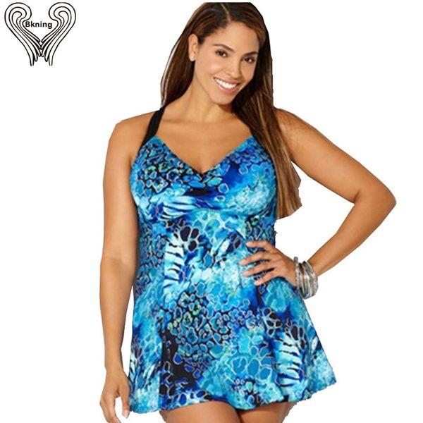 Skirted swimwear plus size one piece swimsuit large push up beach dress 2019 summer one-piece bathing suit monokini swim