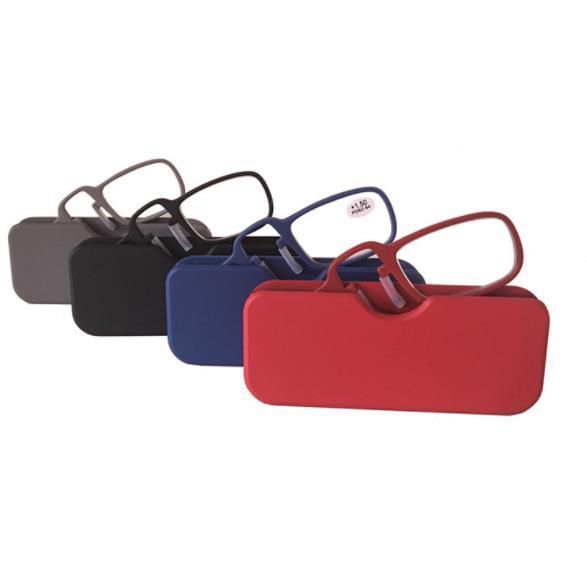 Nueva Nariz Portátil Monedero Gafas de Lectura Con Estuche 4 Colores Mini Gafas de Presbicia Vidrios de Emergencia Cz205