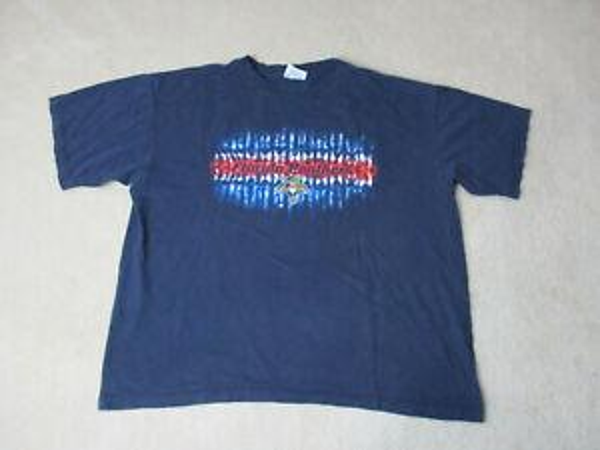 VINTAGE Rock Shirt Взрослый 2XL XXL Синий Красный НХЛ Хоккей Мужская 90-х