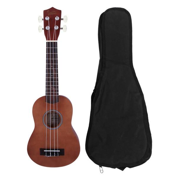 best selling 21 inch Rosewood Fingerboard Basswood Soprano Ukulele Musical Hawaiian Guitar with Bag Strings Picks Brown Glarry UK101