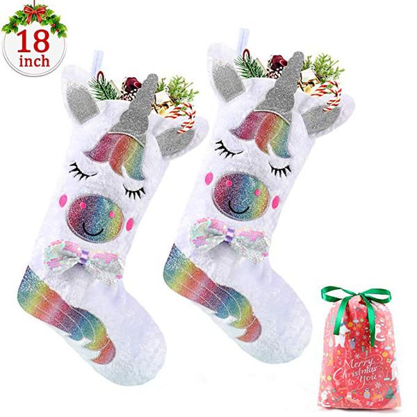 Holiday Gift Unicorn Stocking Christmas Stocking