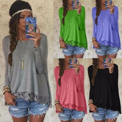 Новые женские рубашки с длинным рукавом повседневные свободные хлопковые топы Lady T Shirt