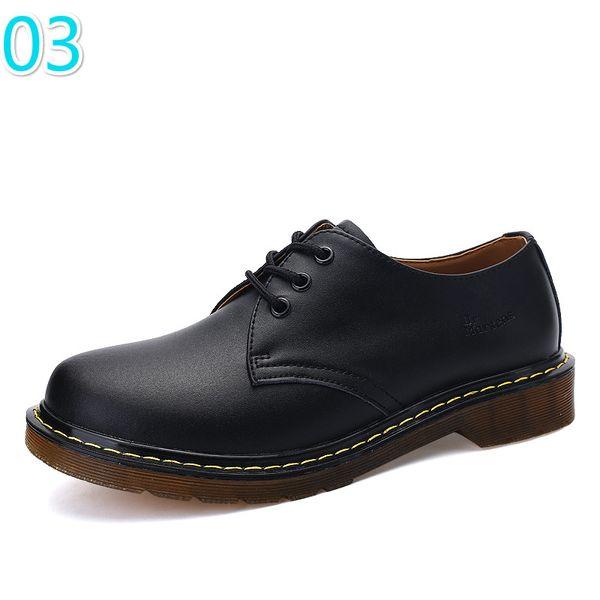 mejor selección 396b1 b7ed4 Men Shoes Genuine Leather Low Top Mens Winter Leather Doc Martens Shoes  Ankle Botas Dr Martins Autumn Casual Couple 3A 11 Tennis Shoes Ladies Shoes  ...