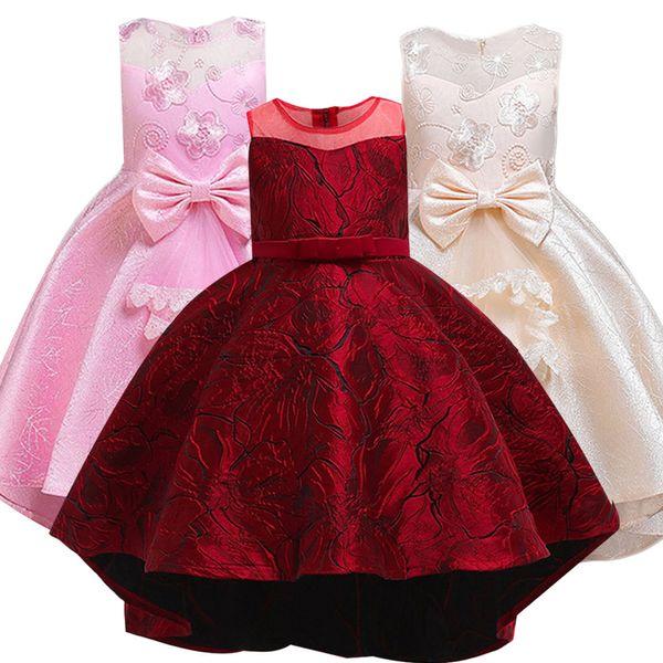 2019 Summer Toddler Girl Clothes Party Wedding Dress Elegant Costume Kids Dresses For Girls Clothing Princess Dress 10 12 Years J190712