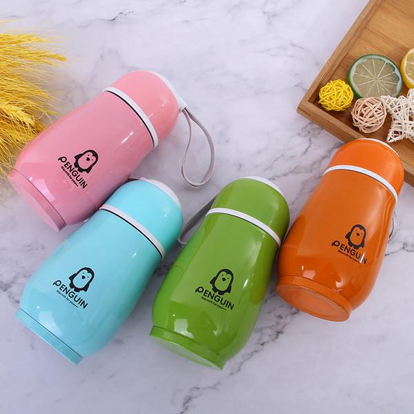 Garrafas de 300 ml Pinguim de água de aço inoxidável Double Layer bonito portátil Tumblers Vácuo Thermos Cup alimentação do bebê 30pcs Copos CCA11924