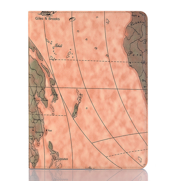 Etui portefeuille en cuir avec support et housse de protection pour Ipad Air 3 couleurs Durable Exquisite Map Etui ultra-fin pour Ipad Mini 2 3 4 Series Case