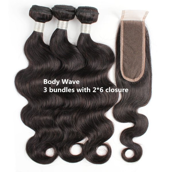 Body wave bundles 2*6 with closure