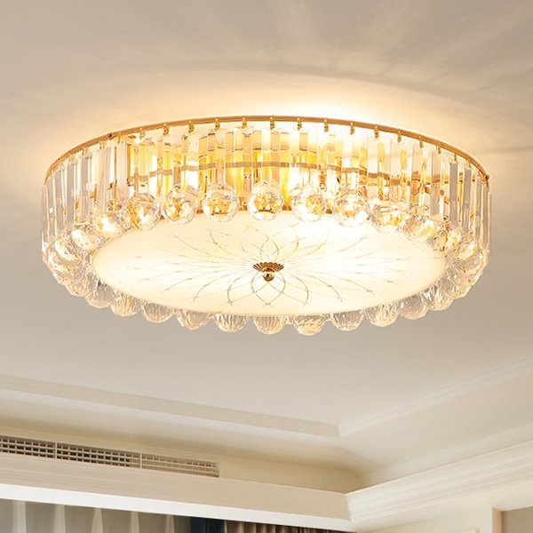 Modern Fashion Crystal Ceiling Chandelier Lamps Gold Luxury Crystal  Chandeliers Lighting Led Ceiling Lights For Bedroom Study Room Small  Chandeliers ...