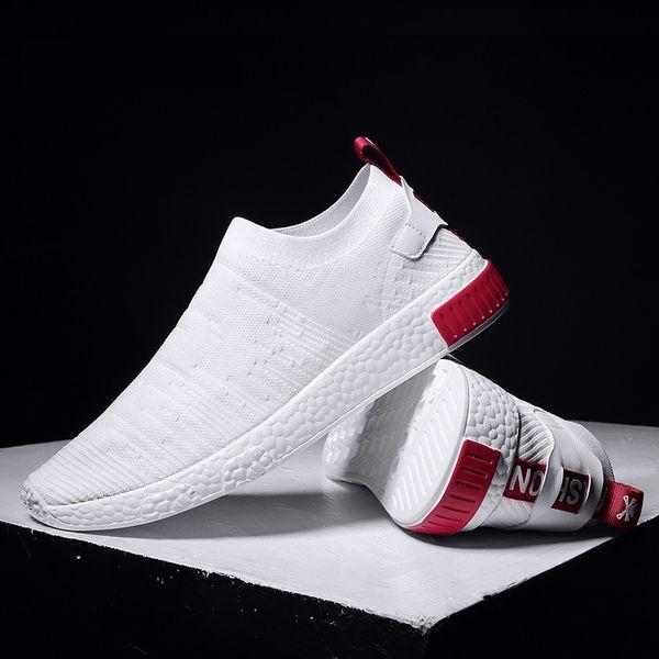 Ohne Tenis Weiße Turnschuhe Jugendlich Großhandel Schuh Dünne Masculino Für Spitzentrend 2019 New Feel Socks Sommer Schuhe Männer T5K1Jcl3uF
