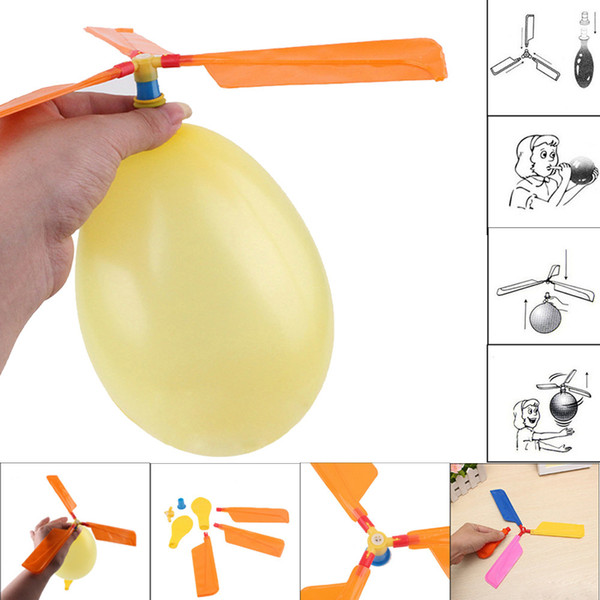 Flying Balloon Helicopter Toy balloon airplane Toy children Toy self-combined Balloon Helicopter Child Birthday Xmas Party Bag Gift MMA2051