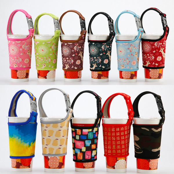best selling Bottle Storage Holder Milk Tea Coffee Hand Drinks Cloth Cover With Braces Anti Scald Neoprene Cup Sleeve Creative wcw588