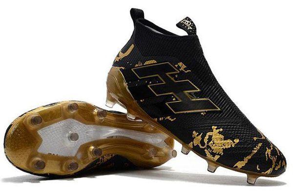 Ace 17+ Purecontrol Primeknit outtdoor Fußballschuh Firm Ground Klampen Trainer FG NSG Men001 Fußballschuhe Fußball-Schuhe Gold Schwarz v02