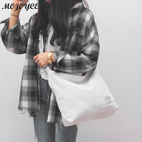 78486b6f480b1 Kore Tarzı Tuval Omuz Çantaları Kadın Düzensiz Çapraz vücut Çanta Kadın  Siyah Gri Rahat Çanta Bayanlar Yeni Messenger Çanta # 44465