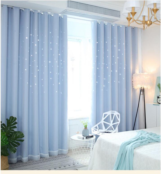 blue Yarn + Curtain