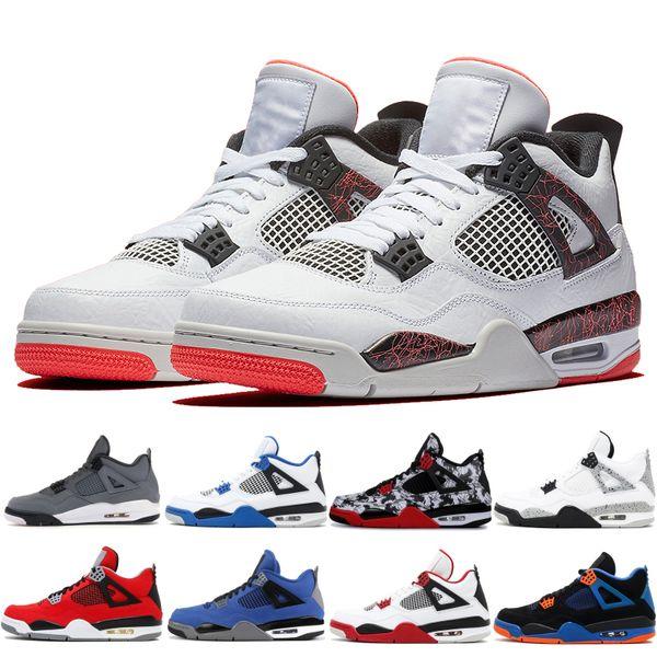 best selling Cool Grey Mens sneakers 4 4s basketball shoes bred black royal thunder Kaws rapotors motorsport white cement mens designer shoes 5-13