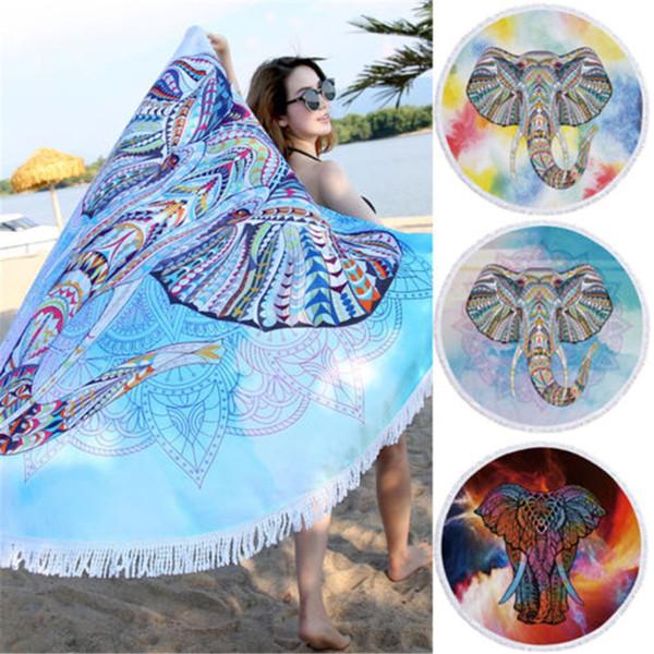 2018 Nouveau Mode Classique et Indian Elephant Tapestry Serviette de plage Hippie éléphant Couvre-lit Throw Bohême